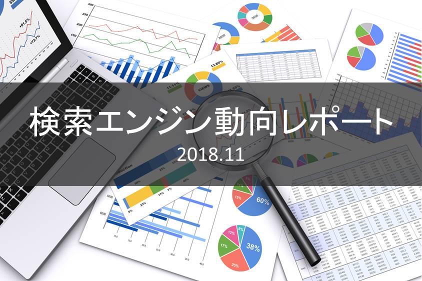 検索エンジン動向レポート11月度